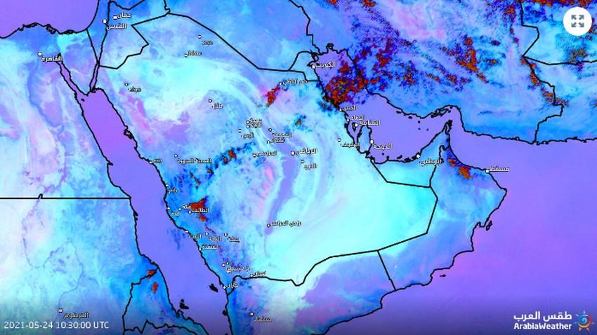 Mis à jour 14h00 | Des orages accompagnés de poussières et de poussières devraient bientôt affecter Hafar Al-Batin