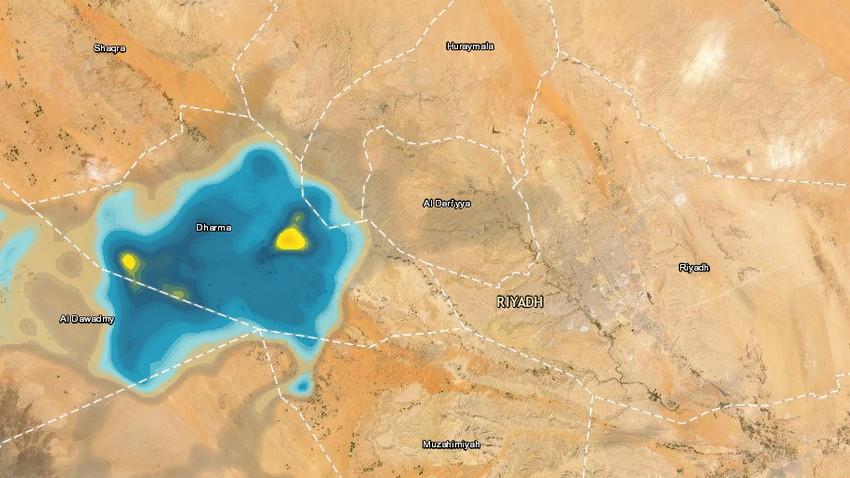 تحديث 12:30 صباحاً/الرياض | أمطار محتملة بعد قليل ..
