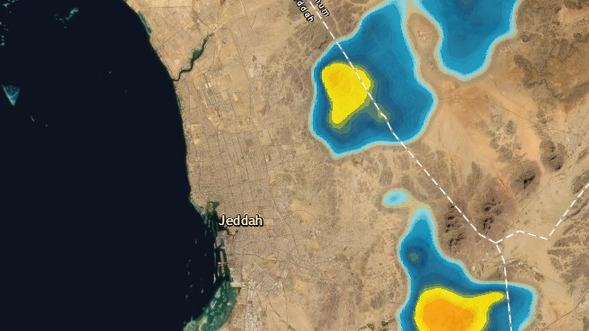 مدينة جدة - 2:50 صباحاً | سحب رعدية تتقدم من الشرق ترفع من فرص الامطار خلال الساعات القادمة