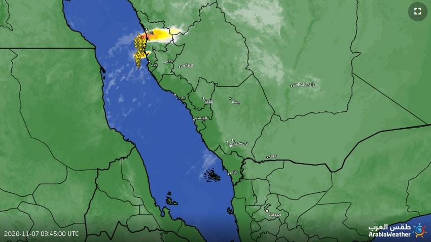 تحديث 7:50 | سُحب رعدية على شمال جدة وهذا ما نتوقعه للساعات القادمة
