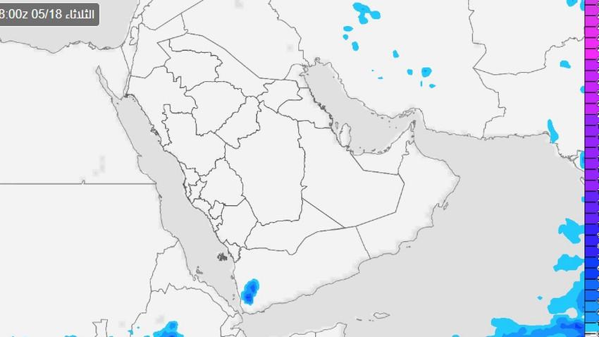 السعودية | تراجع كبير في فرص الأمطار على مرتفعات جنوب غرب المملكة يومي الثلاثاء والأربعاء