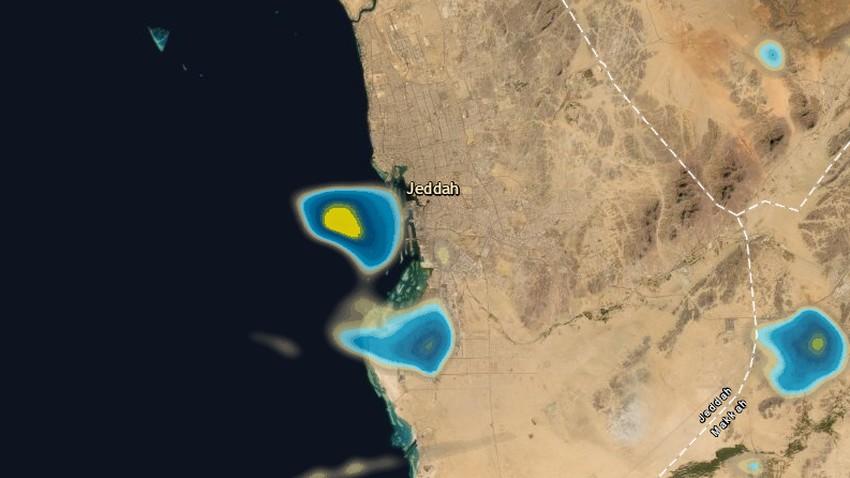 تحديث 11:20م   استمرار تطور السحب قبالة ساحل جدة وفرص الأمطار مستمرة خلال الساعات القادمة