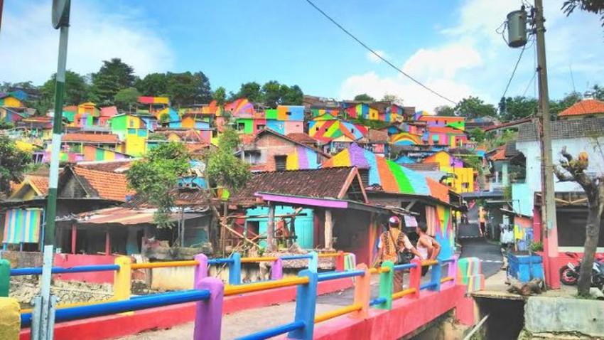 السياحة في قرية قوس قزح باندونيسيا