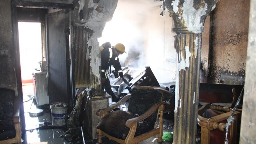 الأردن : إصابة ستة أشخاص إثر حريق شقة في محافظة العاصمة