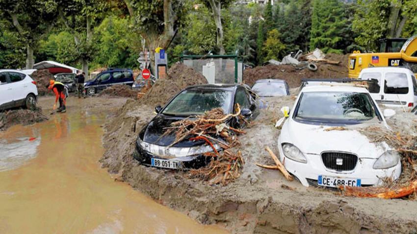 جورجيا - فيضانات وانهيارات أرضية قاتلة جنوب غرب البلاد