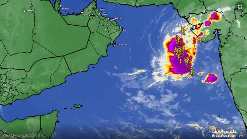 حالة مدارية جديدة في بحر العرب والأرصاد تصدر البيان رقم 1