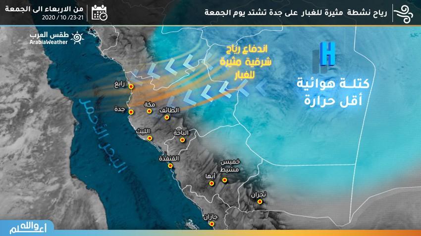 السعودية | عودة نشاط رياح الصبا وتزايد تأثيرها على هذه المناطق الأيام القادمة