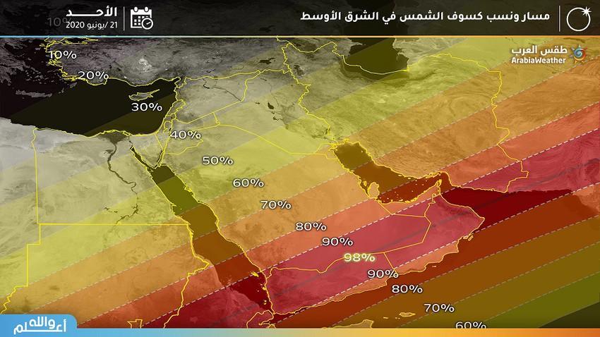 تفاصيل هامة حول كسوف الشمس النادر في السعودية يوم 21 يونيو الجاري
