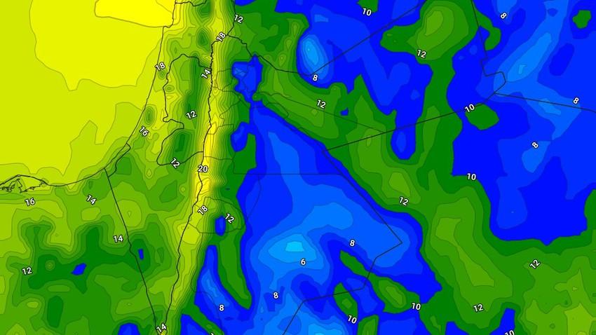 الليلة | اجواء باردة نسبياً تتحول إلى باردة مع احتمالية لهطول امطار خفيفه في اجزاء من جنوب وشرق المملكة