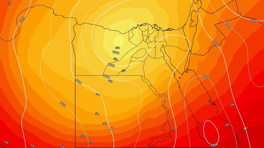 مصر   حالة من عدم الاستقرار الجوي إعتباراً من عصر الاربعاء وتزداد حدتها ورقعتها الخميس