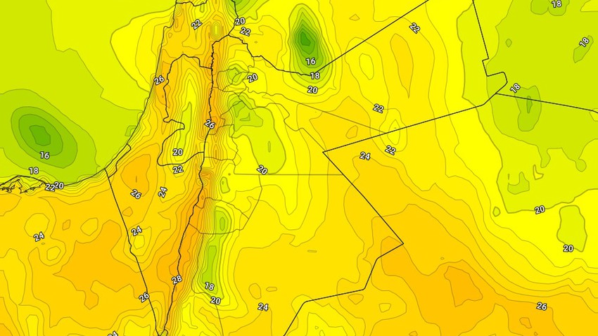 الثلاثاء | ارتفاع على درجات الحرارة مع ظهور تدريجي لكميات من السُحب المتوسطة