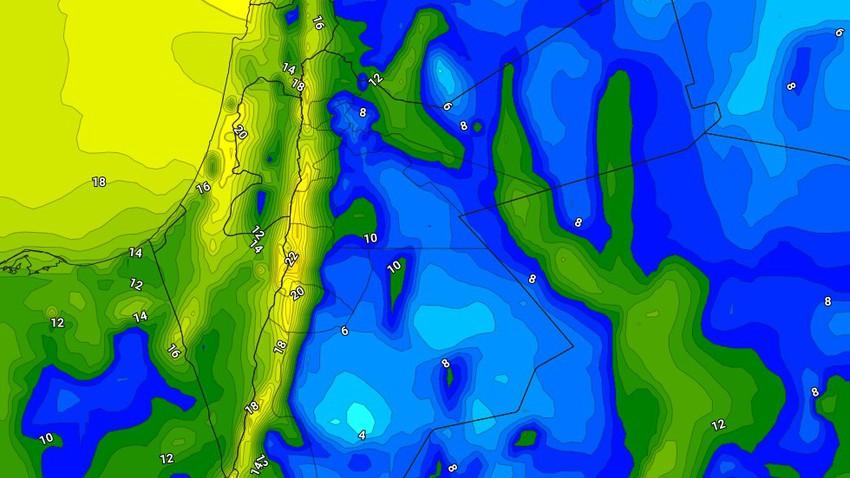الليلة | ارتفاع على درجات الحرارة الليلية مع استمرار هبوب الرياح الشرقية