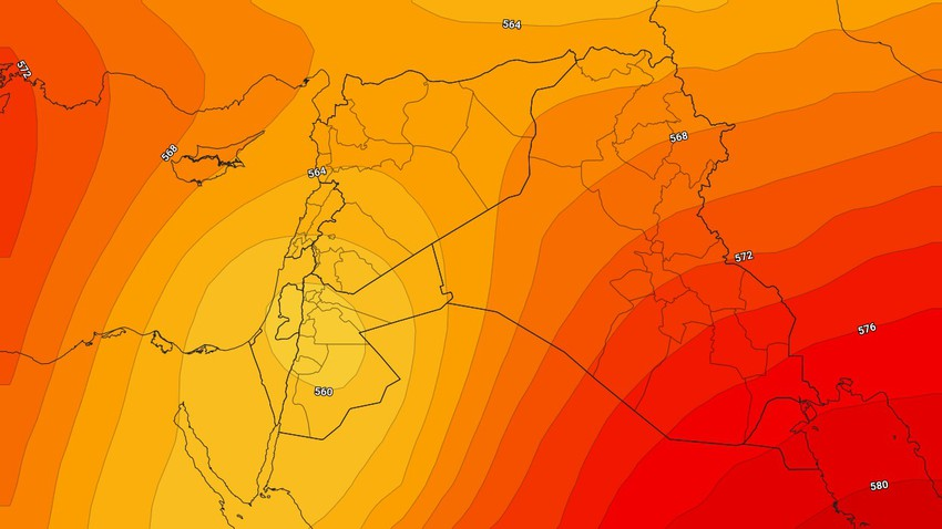 الأردن   تزايد المؤشرات حول تأثر المملكة باحوال جوية غير مُستقرة تجلب معها هطول للأمطار الرعدية خاصة يوم الخميس
