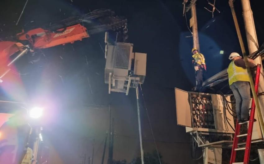 """""""كهرباء اربد"""" تواصل عملها لضمان استمرار الخدمة في ظل الظروف الجوية"""