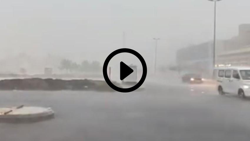 شاهد بالفيديوهات | غزارة الأمطار على جدة اليوم - 26/11/2020