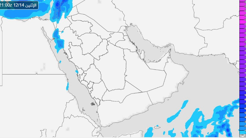 منطقة تبوك | تقلبات جوية متبوعة بانخفاض كبير على درجات الحرارة منتصف الأسبوع