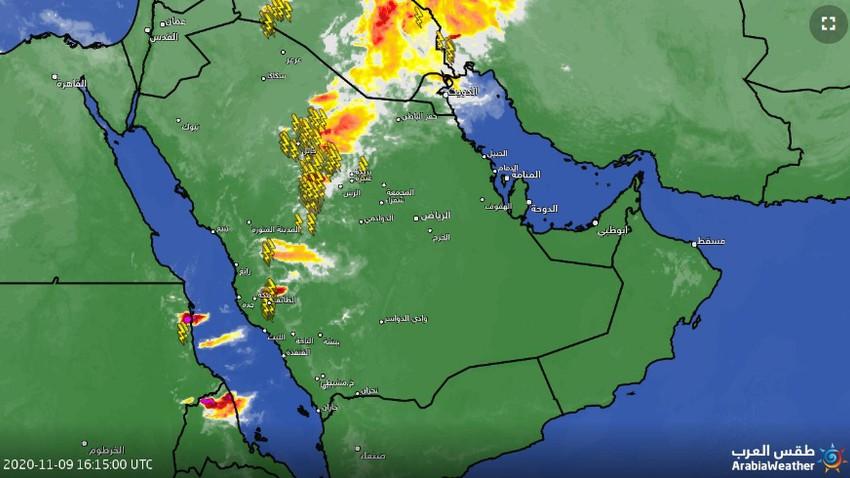 تحديث 7:10م | سُحب رعدية تتحرك نحو القصيم والأمطار متوقعة الساعات القادمة