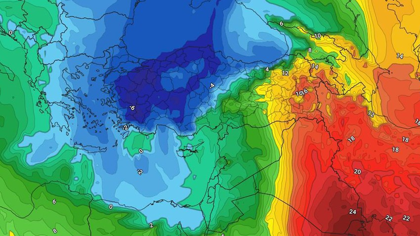 Jordan | A very cold air mass of polar origins, which is unusual for its arrival in the eastern Mediterranean region at this time of year, stays near the kingdom for several days, starting from Saturday