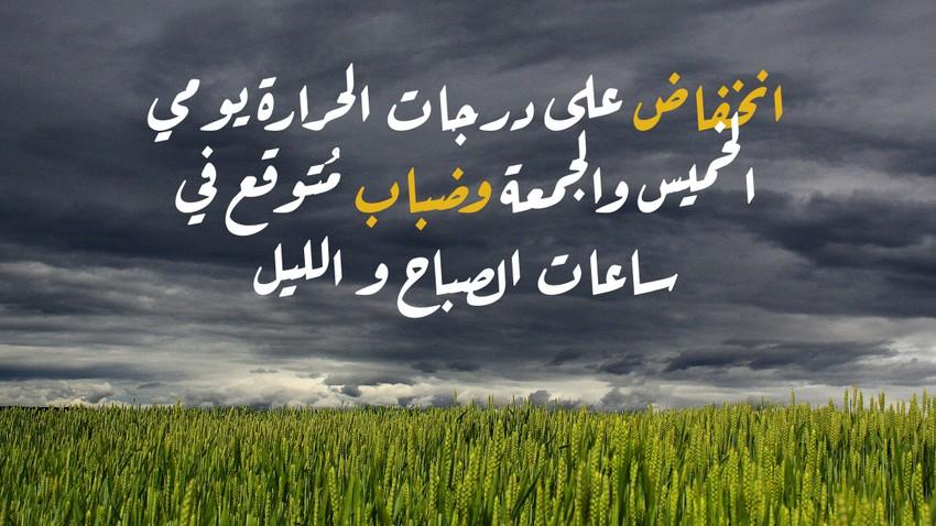 الأردن | انخفاض على درجات الحرارة يومي الخميس والجمعة وضباب مُتوقع في ساعات الصباح و الليل