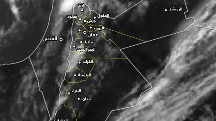 الأردن   أحوال جوية غير مستقرة تبدأ عصر اليوم مُرفقة بأمطار رعدية في بعض المناطق
