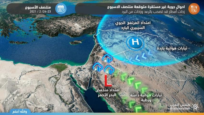 مؤشرات على تأثر المملكة بأحوال جوية غير مستقرة بُعيد منتصف الأسبوع