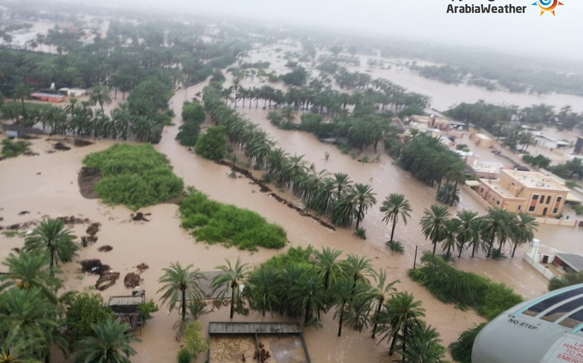 Shocking morning scenes documented by plane of the effects of Hurricane Shaheen on some cities of the Omani coast.. God bless you