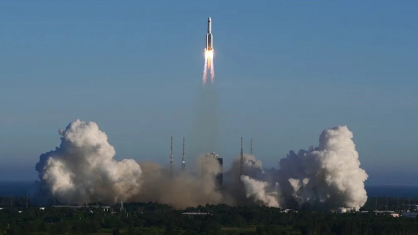 أول صورة يتم التقاطها للصاروخ الصيني الموجود حالياً في مدار غير مستقر حول الأرض