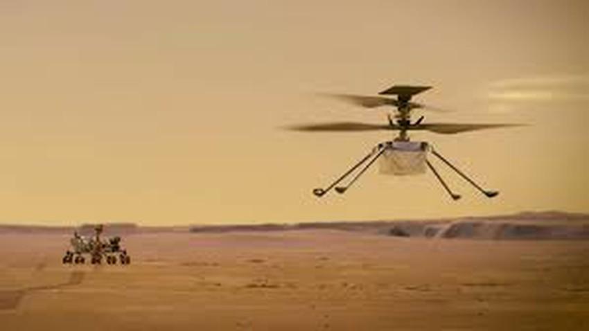 هليكوبتر في سماء المريخ .. ناسا تستعد لتجربة أول طائرة تحلق في سماء المريخ