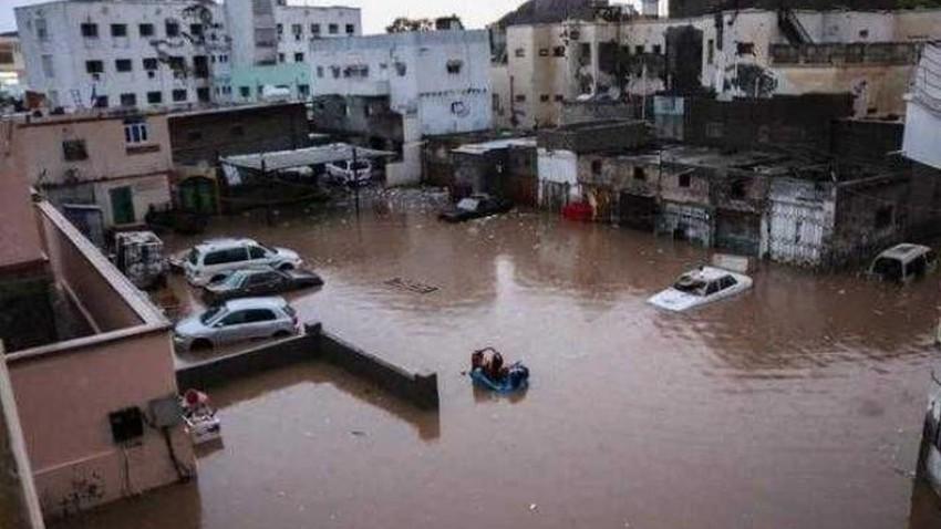 بسبب السيول الجارفة في اليمن... وفاة 9 أشخاص وتضرر مساحات زراعية وانهيار منازل في حضرموت