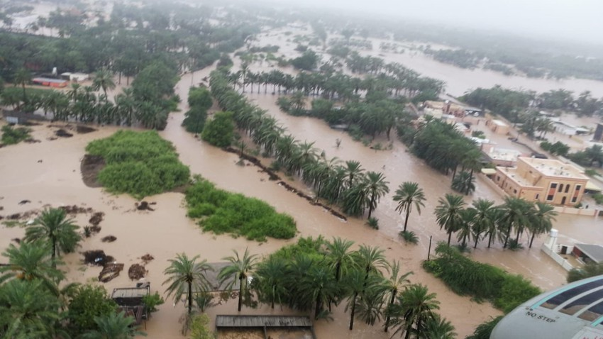 In the video, shocking morning scenes of the affected areas in the Omani coast due to Hurricane Shaheen