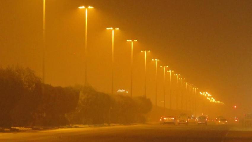الدمام | المحطة التالية للعاصفة الرملية حمراء .. تنبيهاتوتفاصيل جويةهامة