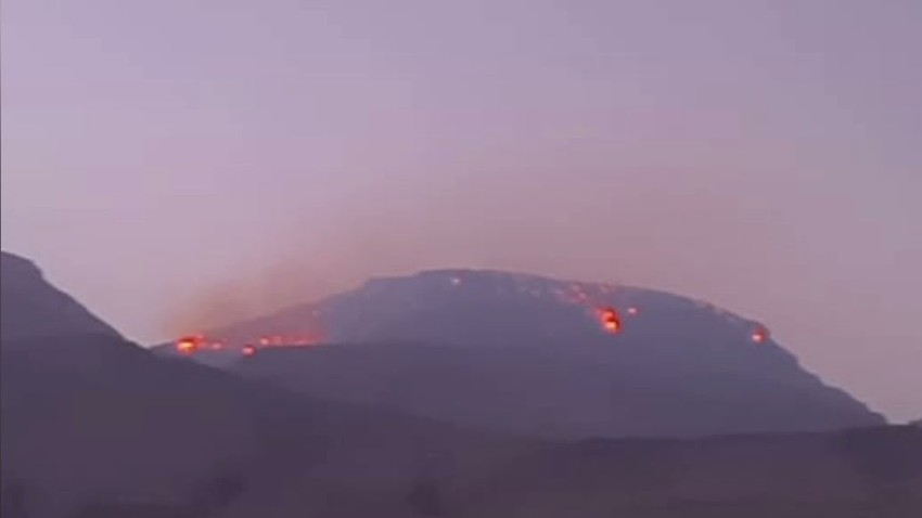 The spread of fires in the Jabal Shams fires in the Sultanate of Oman