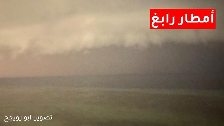 شاهد | أمطار غزيرة هطلت على مدينة رابغ خلال الساعة الماضية وهكذا رصدها هواة الطقس