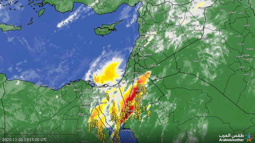 التحديث الجوي / أجواء عاصفة في الجنوب