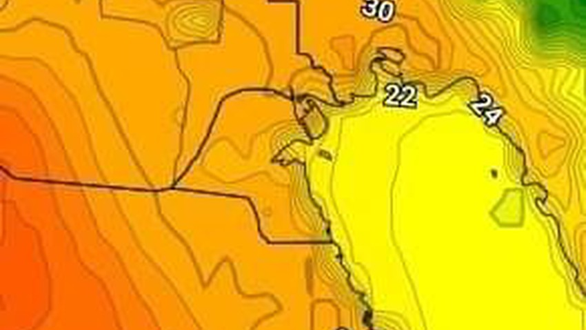 Kuwait | A rise in temperatures on Sunday, with the appearance of some medium and high clouds
