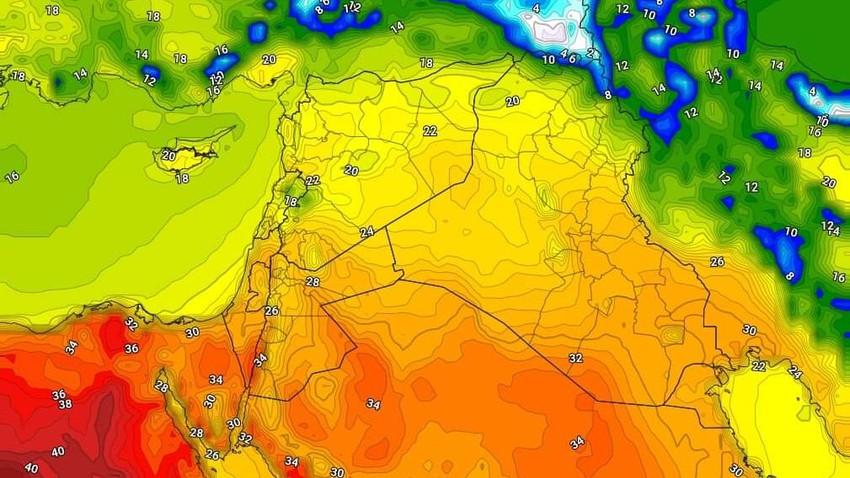 العراق   ارتفاع ملموس على درجات الحرارة الأحد