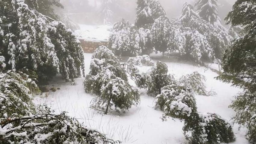 الأردن | تنبيه من تشكل السيول الناتجه عن ذوبان كمية ضخمة من الثلوج