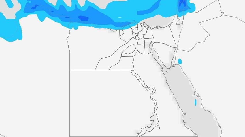 مصر | انخفاض ملموس على درجات الحرارة الأربعاء وزخات امطار في الشواطئ الشمالية