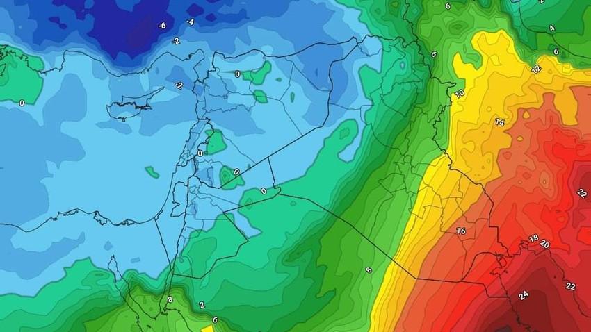 طقس العراق نهاية الأسبوع | انخفاض على درجات الحرارة وليالي باردة مع زخات مطرية وثلجية في المرتفعات الشمالية