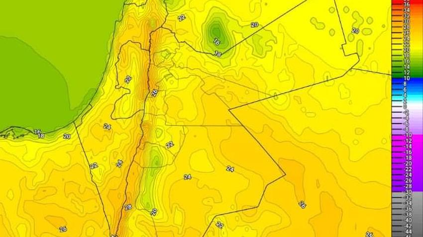 الأردن-منخفض جوي خماسيني يؤثر على المملكة اعتبارًا من الخميس