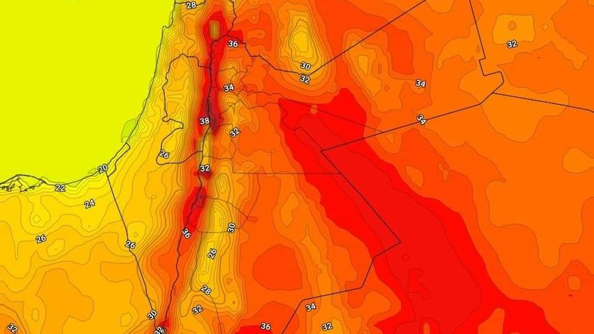 السبت | مزيد من الارتفاع على درجات الحرارة  وفرصة لزخات رعدية من الأمطار في مناطق متفرقة
