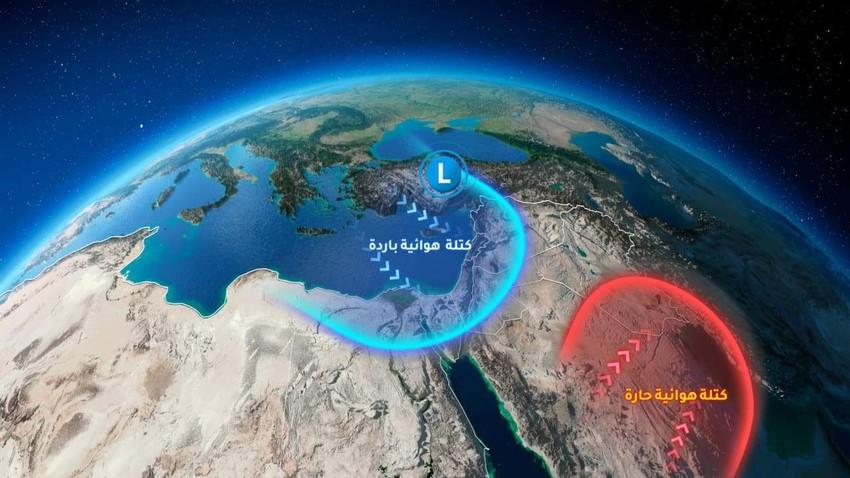 الأردن   كتلة هوائية باردة تجلب الرياح النشطة ودرجات الحرارة الكانونية خلال نهاية الأسبوع