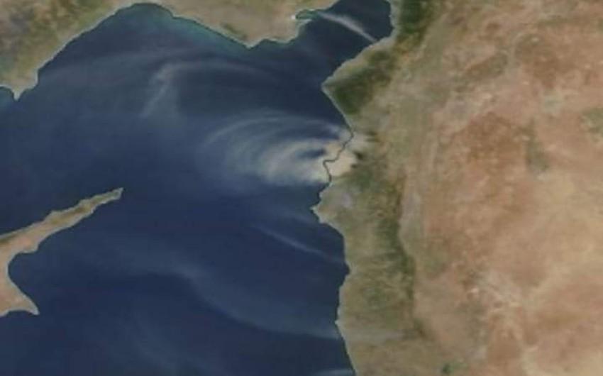 حرائق سوريا تظهر عبر صور الاقمار الاصطناعية على شكل سحب دخانية واسعة النطاق