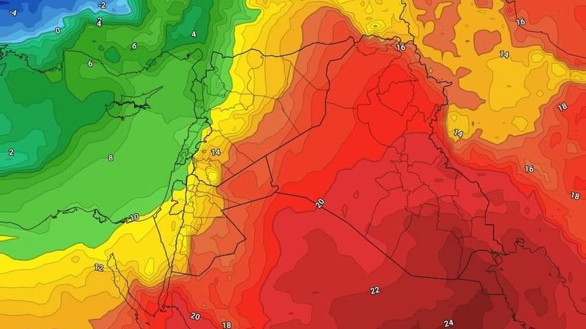 الخميس | اجواء دافئة نهاراً وانخفاض مُتسارع وواضح على درجات الحرارة ليلاً