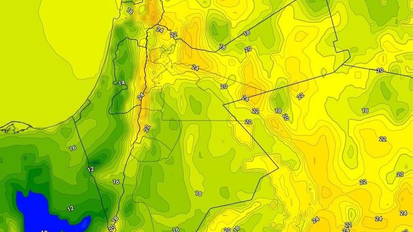 الليلة | عودة الحرارة الليلية للارتفاع واجواء مُعتدلة بوجهٍ عام