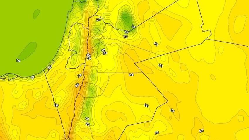 الأحد   ارتفاع ملموس على درجات الحرارة وأجواء ربيعية دافئة