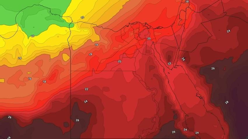 Egypte - Newsletter hebdomadaire Une masse d'air chaud affectant le pays et une ambiance estivale en milieu de semaine