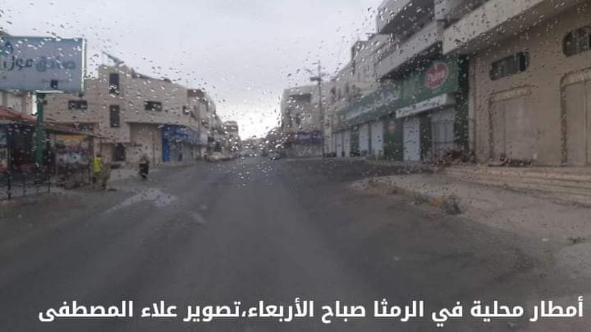أمطار محلية هطلت صباح الأربعاء شمال المملكة في حدث جوي نادر لمثل هذا الوقت