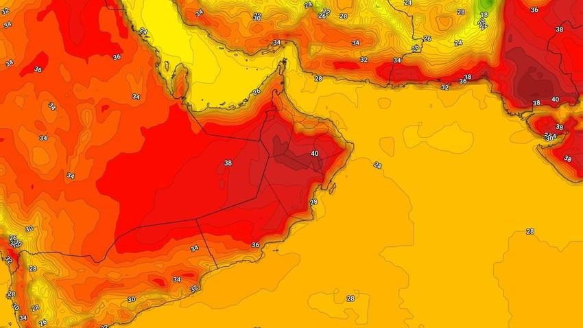 عُمان | حالة الطقس المُتوقعة يوم الأربعاء 31/3/2021