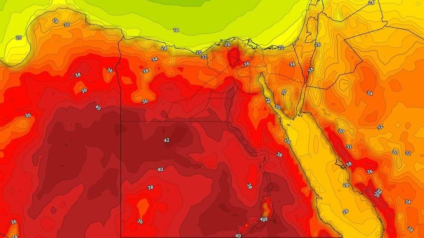 مصر   درجات حرارة أربعينية في بعض المناطق الأحد لأول مره هذا الموسم